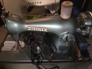 White Sewing Machine Circa 1950'sWhite sewing machine circa 1950