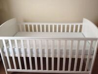 Obaby cot bed and mattress