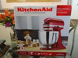 SALE  - KitchenAid Artisan Stand Mixer KSM150PSER 5Qt - 325-Watt