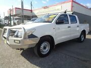 2013 Toyota Hilux KUN16R MY14 SR White 5 Speed Manual Dual Cab Pick-up Sandgate Newcastle Area Preview