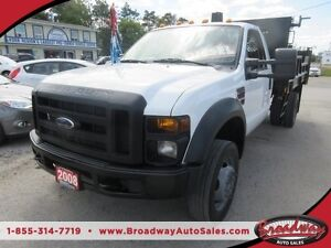 2008 Ford F-550 6.4L - DIESEL WORK READY XL MODEL 3 PASSENGER RE