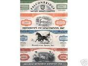 Vintage Stock Certificates