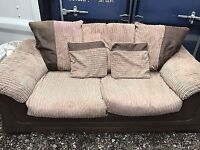 2 seater sofabed and chair jumbo cord