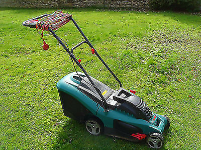 bosch rotak 34 electric rotary lawnmower 34 cm cutting width in verwood dorset gumtree. Black Bedroom Furniture Sets. Home Design Ideas
