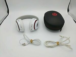 Beats By Dre: White Wired Studio Headphones