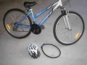 Bicycle, helmet,lock.