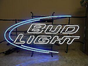 Bud Light Neon Beer Bar Sign For Sale
