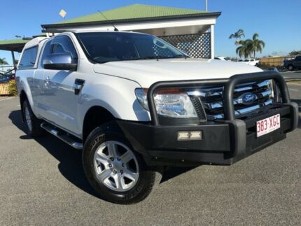 2012 Ford Ranger PX XLT Super Cab White 6 Speed Sports Automatic Utility