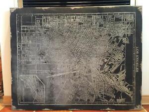 Cadre d'une partie de la carte de Los Angeles