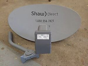Shaw Direct satellite dish with kU or xKu LNB
