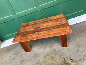 "Handmade Rustic Barn Wood ""1941"" Coffee Table"