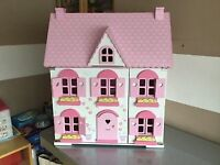 ELC Rosebud Dolls House - with furniture