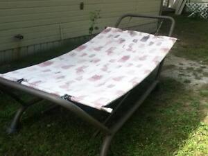 Steel framed hammock