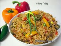 homemade curried vegetarian rice pilaf $4 per plate
