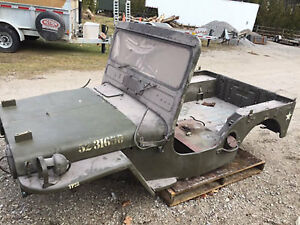 1952 M38 WILLYS JEEP ORIGINAL BODY ASSEMBLY