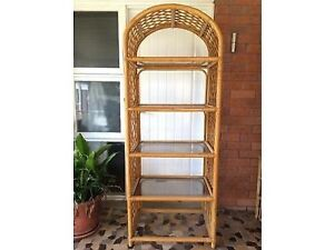 2 Vintage Cane Shelves (a pair) Pennant Hills Hornsby Area Preview