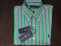 Ralph Lauren Green/White Striped Shirt Large