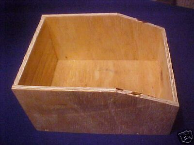4 RABBIT WOOD NEST BOXES NO LID 10X13 1/4 X 7 PET BIRD SMALL ANIMAL HOUSE  NEW