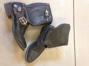 Leather Harley Davidson Boots