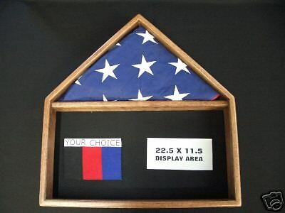 US AMERICAN FLAG DOCUMENT MEMORIAL DISPLAY CASE 5 X 9 VETERAN   (Us Flag Display Case)
