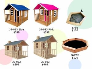 Outdoor Wooden Cubby Playhouse w/Veranda Adelaide Region Preview