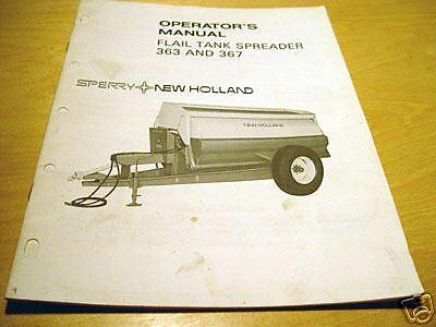 New Holland 363 367 Manure Spreader Operators Manual Nh