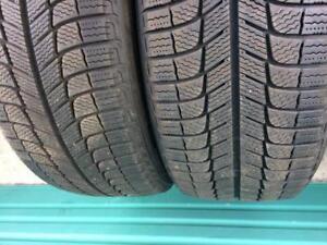 2x 225 50 18 Michelin Latitude Winter Tires 180