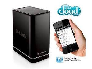 D-Link ShareCenter 2-Bay Cloud Network Storage NAS Server Enclosure