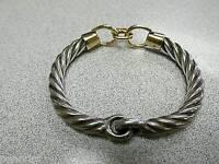 Authentic estate Gucci 9ct gold & Silver bangle bracelet.