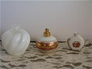 VINTAGE PERFUME /SNUFF BOTTLES GERMANY BAVARIAN MILK GLASS