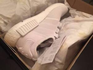 NMD Adidas R1 Triple White Men US 9.5 / UK9 + Receipt Docklands Melbourne City Preview