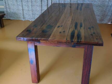 Dining Table Recycled Railway Sleeper Boards