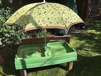 Step 2 Sand Table Pit with Parasol and Cover