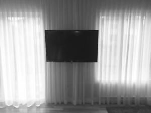Support télé fixe avec INSTALLATION INCLUSE