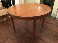 French vanished dining room table with leaves