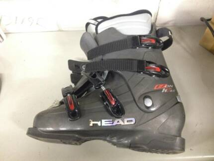 HEAD DOWNHILL SNOW SKI BOOTS POLES HT 4.0 EZ SIZE 28.5 SALE HIRE
