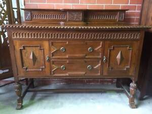 Antique Sideboard,cabinet, solid oak, WE CAN DELIVER Brunswick Moreland Area Preview