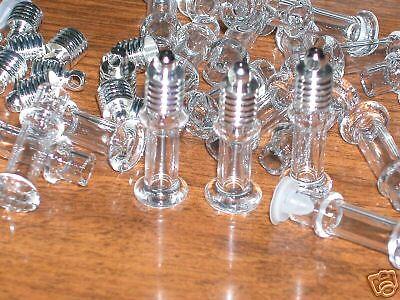 1  mini Tower tube Glass bottle vial charms pendant