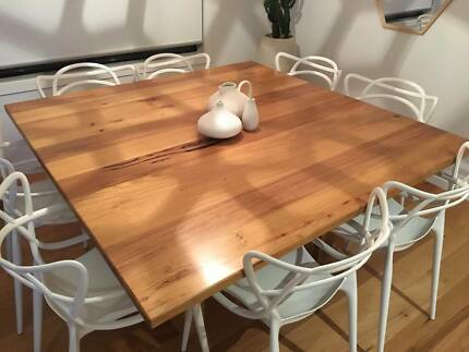 Custom Solid Timber 1500mm square Dining Table