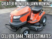 Lawn Mowing, greater Moncton area