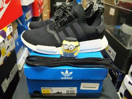 M&K:NMD Monochrome PK black US10 USED PAIR