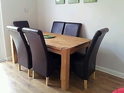 Schreiber Woburn Solid Oak Dining Table 6 Chairs From Homebase