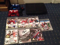 Super Slim PS3 450gb With 2 Wireless Pads And Games
