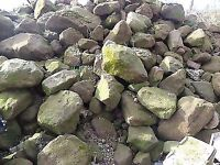 Dumpy bags of rockery stone