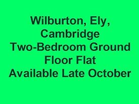 Modern Two Bedroom Ground Floor Flat Wilburton, Ely, Cambridgeshire.