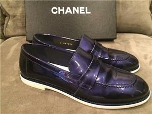 Chanel Patent Leather Women Shoes Loafers Chaussures New /Neuves