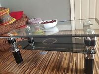 Glass Two-Tiered Coffee Table