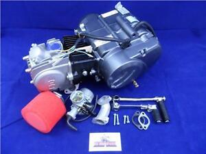 New Lifan 125cc Big Valve 4 Speed Manual Pit Bike Engine, Carb & BBR Manifold