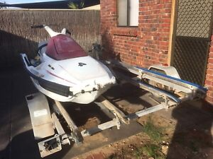 Double jet ski trailer with 3 skis West Lakes Charles Sturt Area Preview