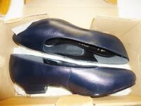 Soft Leather Low Heel Pumps  -Ladies Safety Shoes Steel Toe -NEW